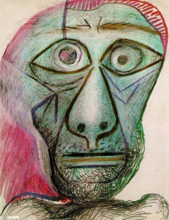 Picasso'nun kendini cizdigi resimler 90-1