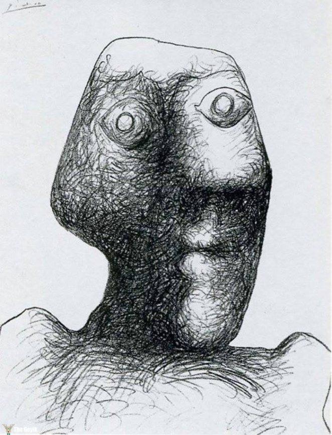 Picasso'nun kendini cizdigi resimler 90-3