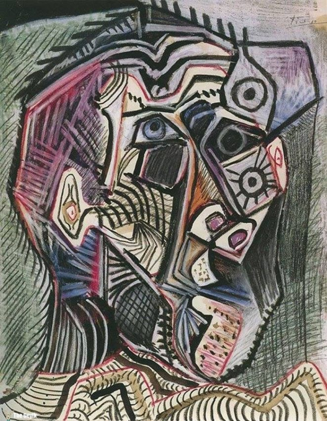 Picasso'nun kendini cizdigi resimler 90