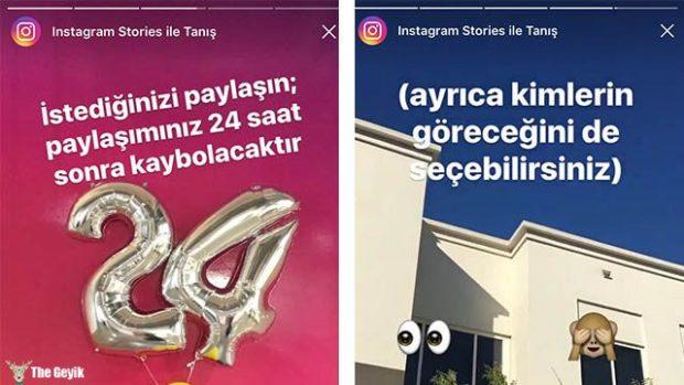 instagram stories- hikaye snapchat
