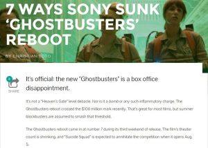 7 ways sony sunk ghostbusters reboot