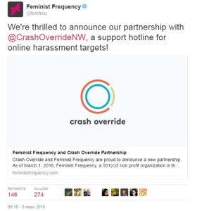 feminist frequency and crash override network