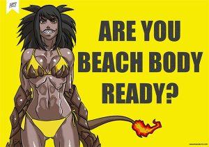 are you beach body ready by kukuruyoart