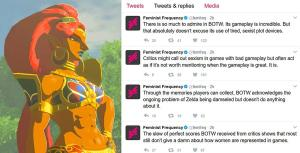 feminist frequency vs the legend of zelda breath of the wild