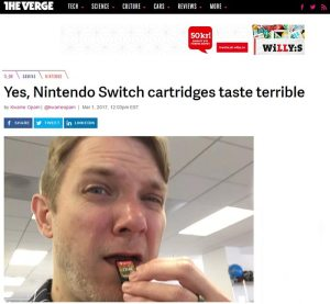 yes nintendo switch cartridges taste terrible theverge kwame opam