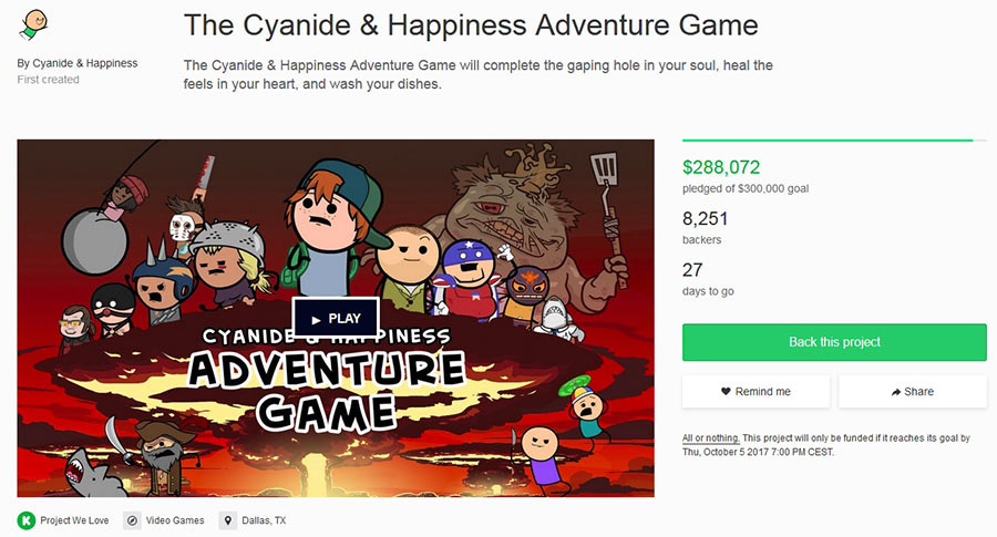 the cyanide happiness adventure