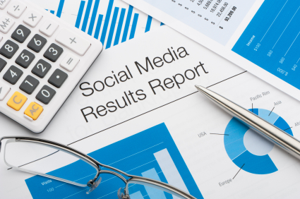Close up of a social media results report