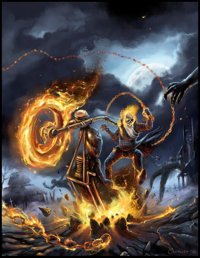 Ghost Rider Bike Hd Wallpaper Ghost Rider Artwork The Ghost Rider Fan Page