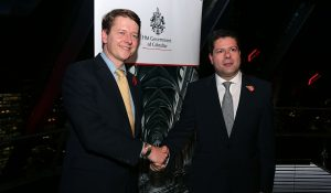 CM Fabian Picardo and the Minister for Exiting the EU, Robin Walker