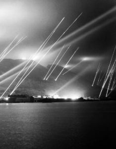 Searchlights on the Rock of Gibraltar, 1942