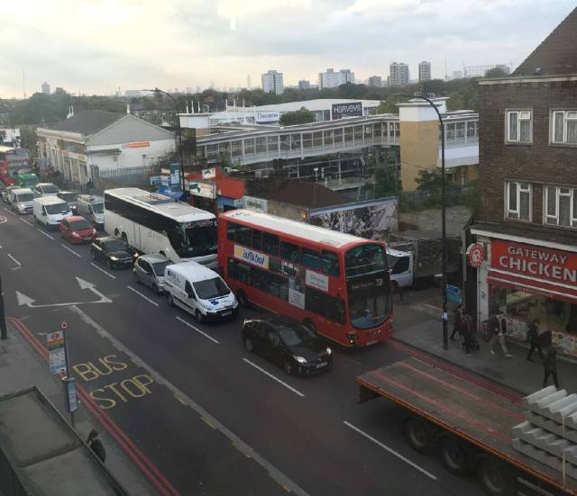 The constant flow of traffic outside my window never stops, New Cross Gate