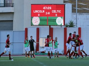 Lincoln beats Celtic 1-0 at the Victoria Stadium