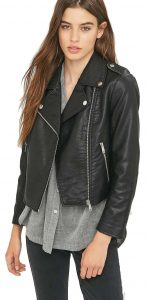 Sparkle & Fade (from Urban Outfitters) Black Vegan Leather Shrunken Biker Jacket £65