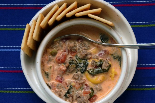 Sausage and Cheese Tortellini Soup - Stovetop