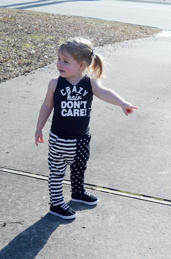 Crazy Hair Don't Care - Little Girl Outfit - Toddler Style - Kid Style - Baby Style - Little Girl Fashion - The Gifted Gabber
