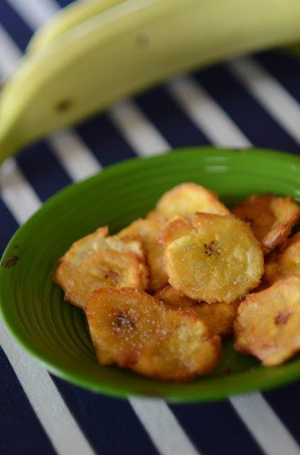 Patacones - fried plantains from The Gifted Gabber