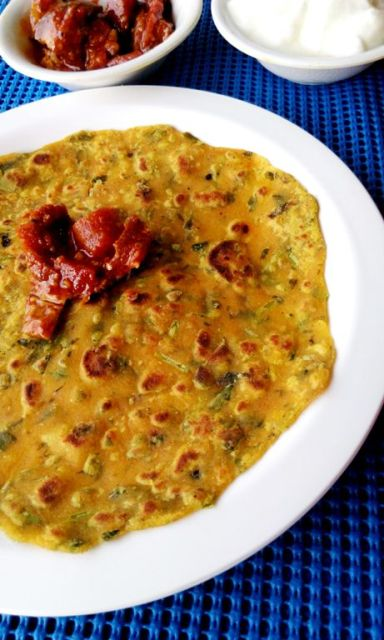 bharvan baingan with methi thepla 5