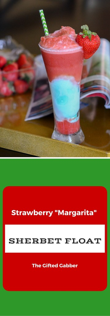 Strawberry Margarita Sherbet Float - The Gifted Gabber