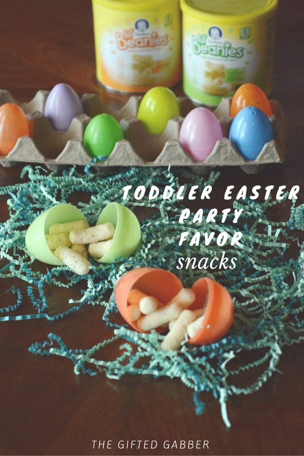 Toddler Easter Party Favors With Lil' Beanies Snacks