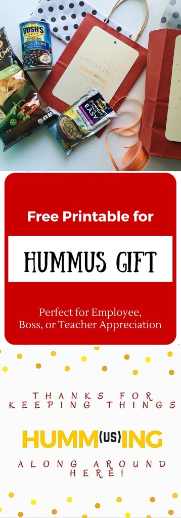 Hummus Gift and Free Printable - The Gifted Gabber