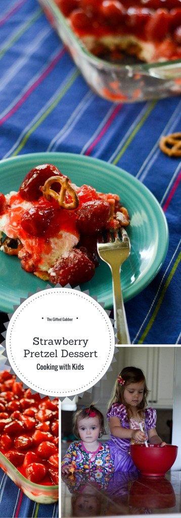 Strawberry Pretzel Dessert - Cooking with Kids - The Gifted Gabber