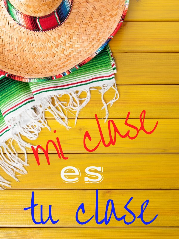 Mi clase es tu clase - free printable for your Spanish classroom - Spanish class decor - Spanish teacher - Spanish classroom decoration - The Gifted Gabber