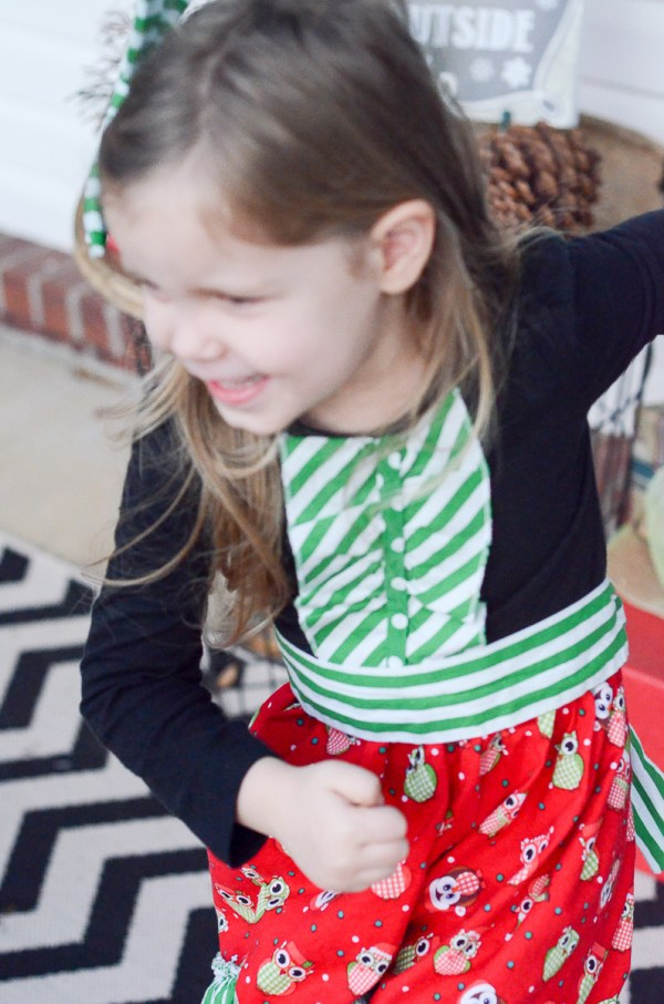 Christmas Owls Dresses - What We Wore - The Gifted Gabber