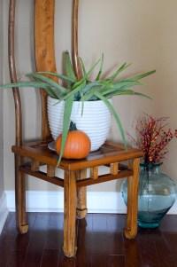 Houseplants in Fall Decor - Fall Home Tour