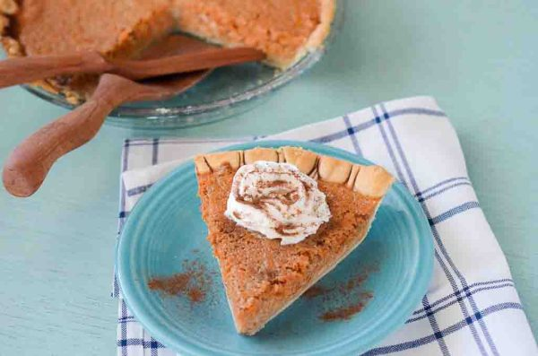 slice of cinnamon carrot pie - The Gifted Gabber