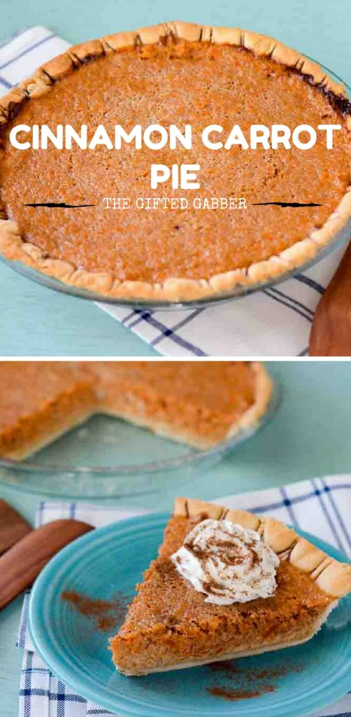 Cinnamon Carrot Pie - The Gifted Gabber