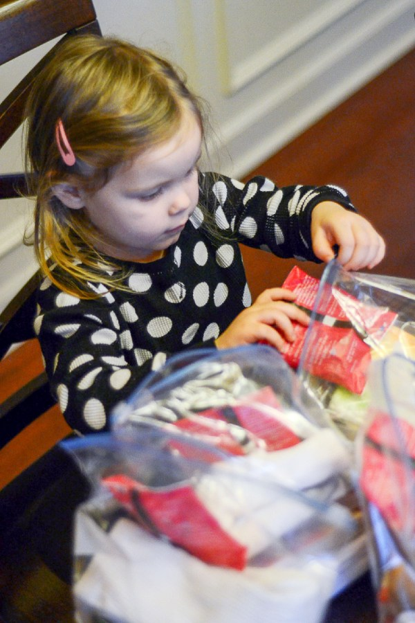 A Little Girl Making Blessing Bags - A Look Back at My Time as McDambassador - The Gifted Gabber