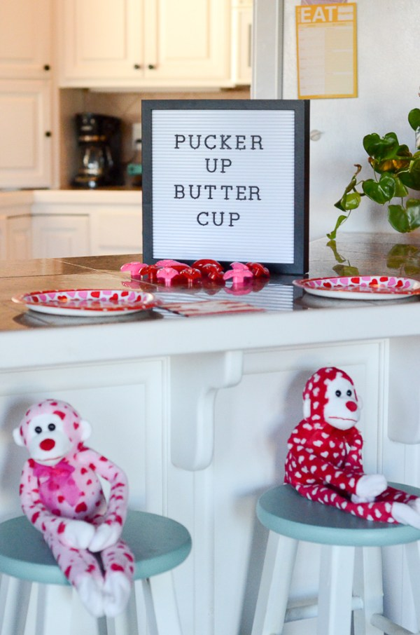 Pucker Up Buttercup at a Galentine's party for little girls - The Gifted Gabber
