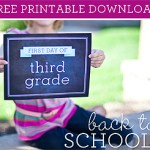 Back to School Freebie: Paper Coterie First Day Signs