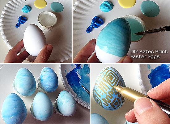 DIY_watercolor_aztec_print_easter_eggs
