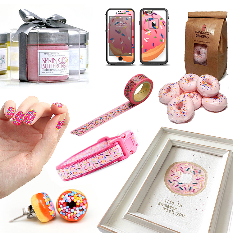 donut_sprinkles_gifts_sweet_nailstickers_soap_dog_collar_art_print