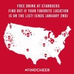 Free Drink at Starbucks! #FindCheer