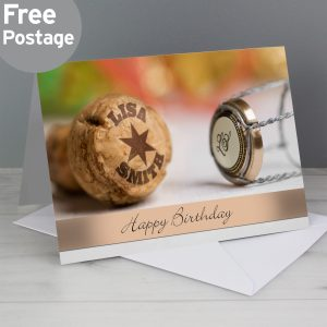 Personalised Champagne Card