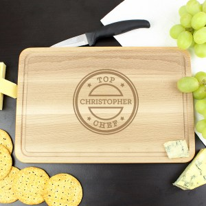 Personalised Top Chef Large Chopping Board