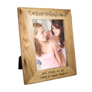 Personalised Best Friends 7x5 Wooden Photo Frame