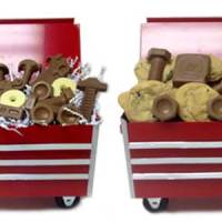 Rolling Tool Carts Filled With Delicious Cookies & Themed Chocolate