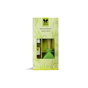 IRIS Reed Diffuser Ceramic Pot Lemon Grass Home Fragrances 60 ml