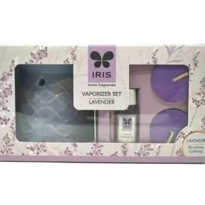 IRIS Lavender Ceramic Fragrance Vaporizer Set