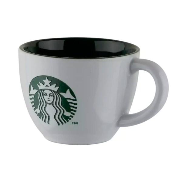 Starbucks Engraved White and Green Mug