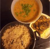 Pulao, Tadka Daal & Baingan Bhaaja