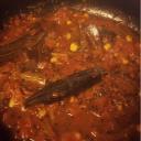 Tomato tok - Sweet & sour bengali chutney with loads of garlic