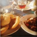Goan Brown bread (poye) and goan pork sausages @ Britto's , Goa
