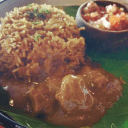 Nina aunty's mutton dhansak with brown rice @ Social offline