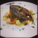 Grilled Sear fish with vegetables - Fish of the day @ Cafe Noir, UB City