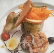 Smoked Salmon salad with apple slices and fresh vegetables @ Toscano, UB City