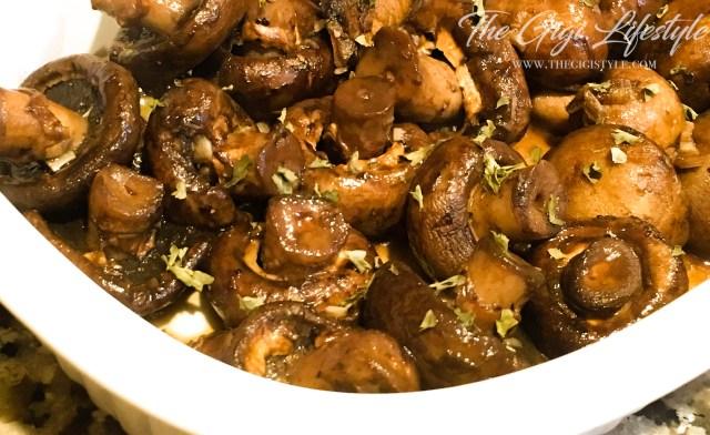 Honey Balsamic Mushroom dish